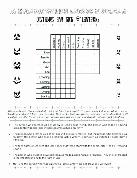 Brain Teasers Worksheet 2 Answers Printable Halloween Brain Teasers
