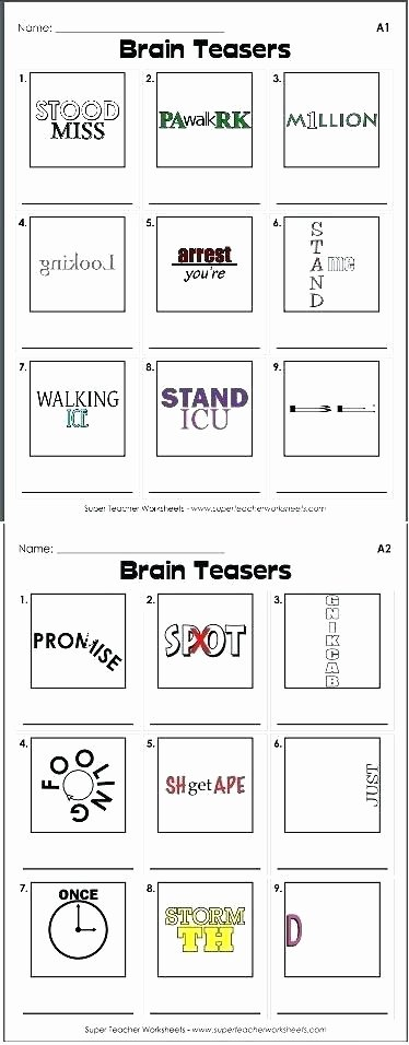 Brain Teasers Worksheets Pdf Elegant Printable Brain Teasers Farmer Browns Bender Number 1 Games