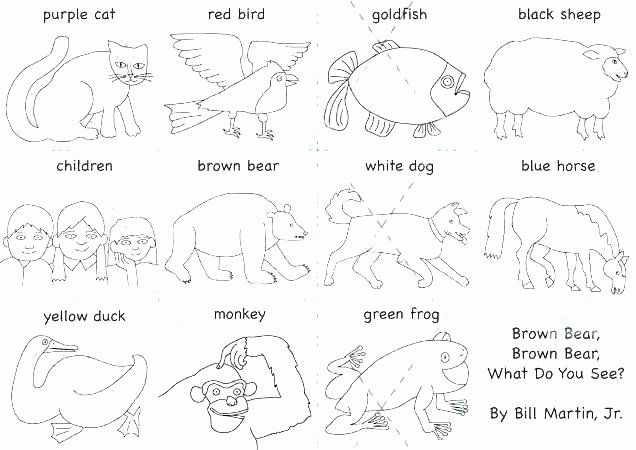 Brown Bear Brown Bear Worksheets Lovely Eric Carle Brown Bear Coloring Pages – Danquahinstitute