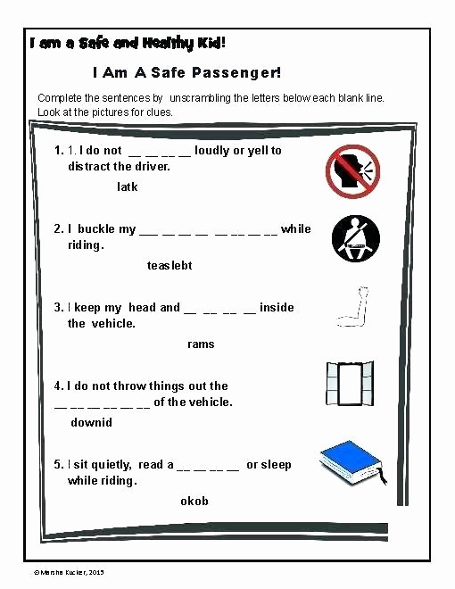 Bus Safety Worksheets Road Safety Worksheets Printable Activity Pack T 1 Free