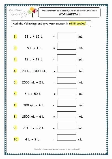 Capacity Maths Worksheets Year 4 Maths Worksheets Printable Free