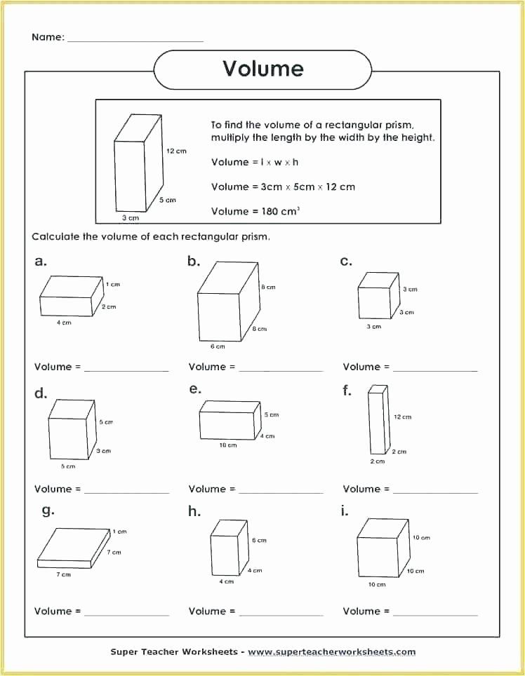Capacity Worksheets 4th Grade 4th Grade Math Volume Worksheets