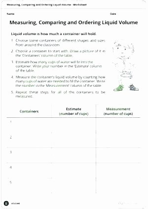 Capacity Worksheets 4th Grade Liquid Volume Worksheets Grade Mass and for Science Matter