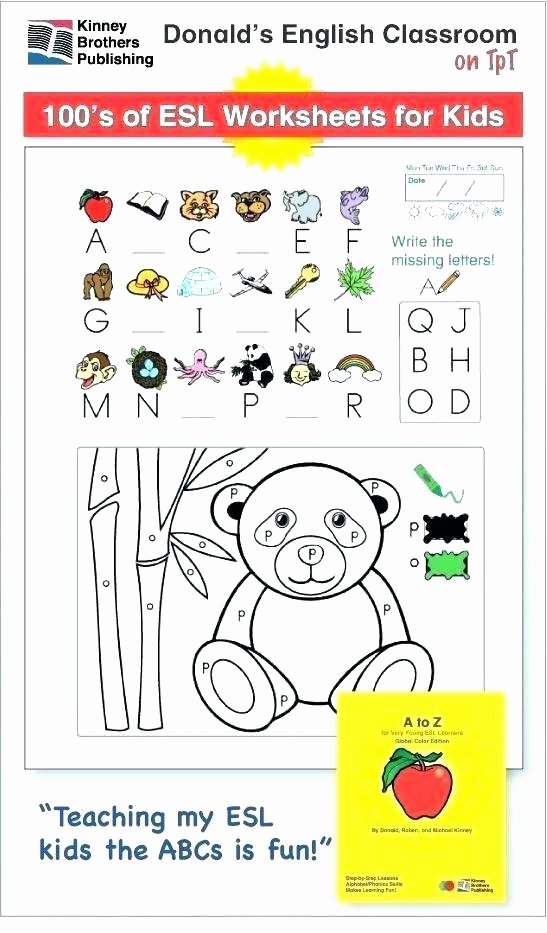 Capacity Worksheets Kindergarten Esl Worksheets for Kids