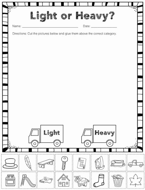 Capacity Worksheets Kindergarten Freebie Lesson In A Snap Iteach Kinder Linky
