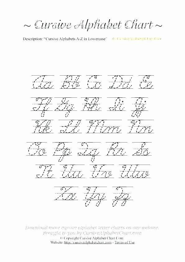 Capital Cursive Alphabet Free Printable Alphabet Chart – Primeraplana