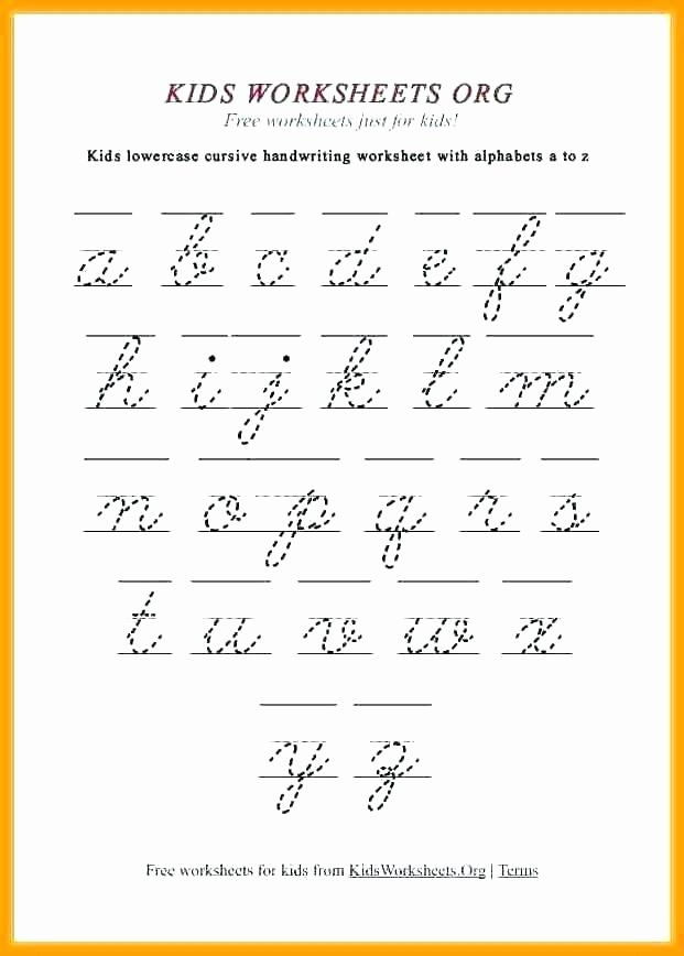 Capital Cursive Alphabet Free Printable Cursive Worksheets