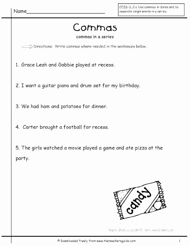 Capitalization and Punctuation Worksheets Pdf Capitalization Free Printable Punctuation Worksheets 1st