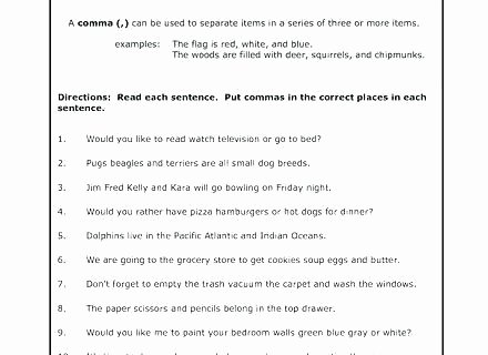 Capitalization and Punctuation Worksheets Pdf Ma Worksheets Punctuation Rules Worksheets Act