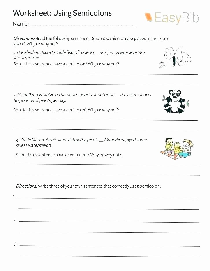 Capitalization Worksheet Middle School Capitalization and Punctuation Worksheets Punctuation