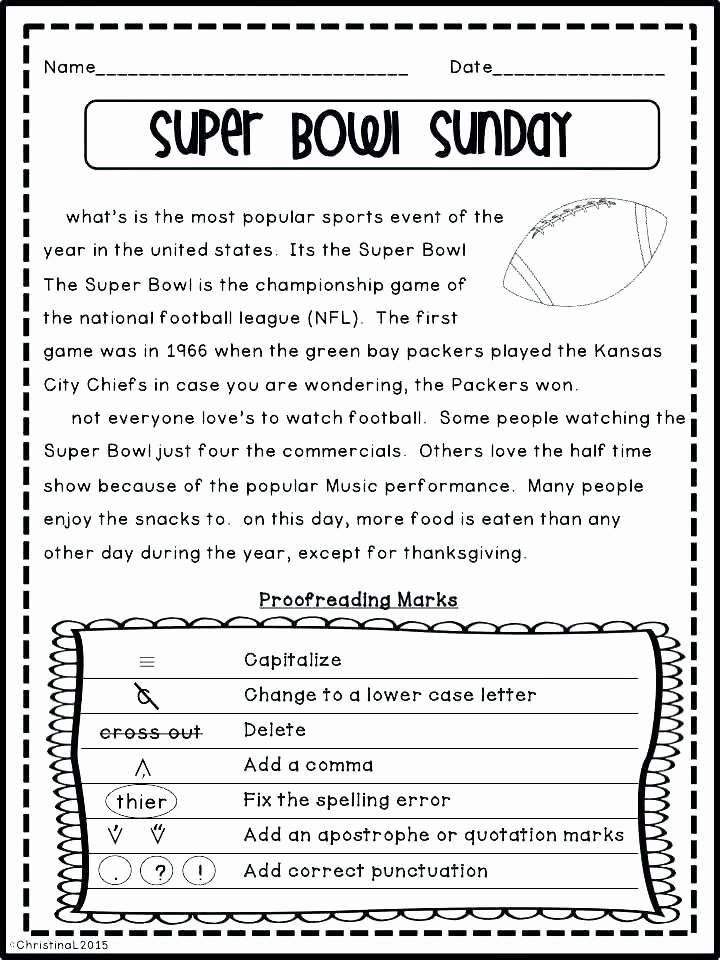 Capitalization Worksheet Middle School Fun Worksheets Middle School Editing Practice Activities for