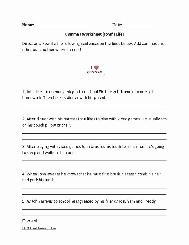 Capitalization Worksheet Middle School Punctuation Worksheets Grade Free Printable Ma for Marks