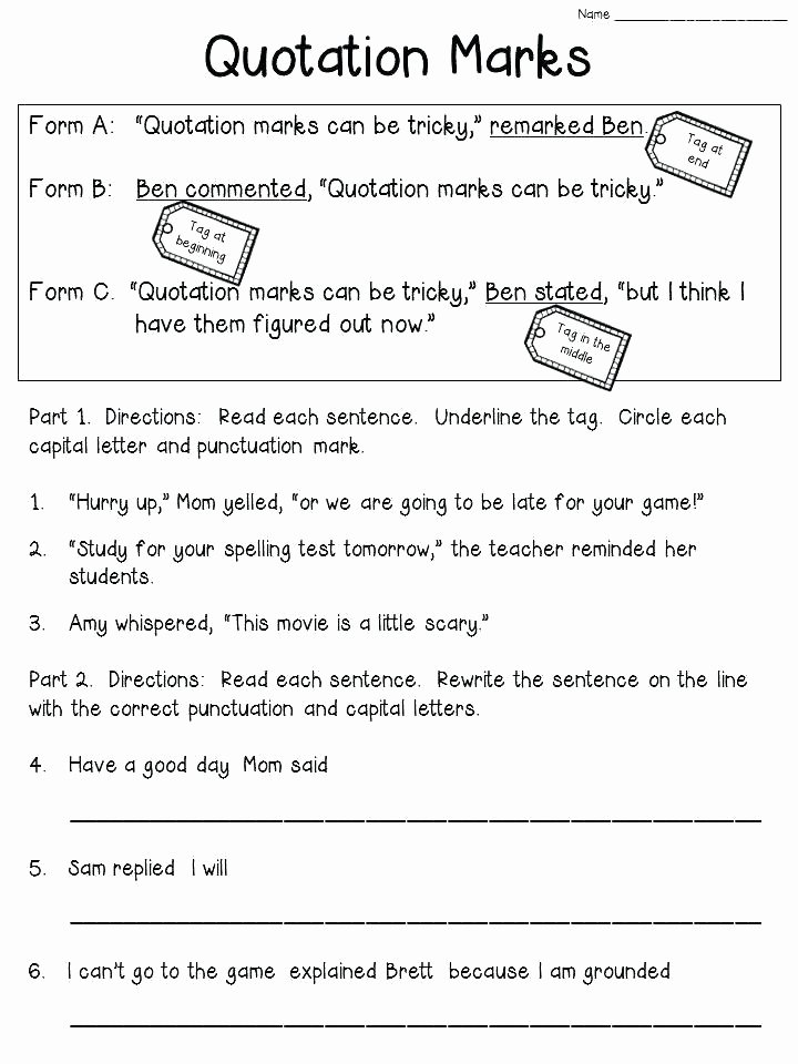 Capitalization Worksheets 4th Grade Pdf Capitalization Worksheets Grade Wo Mesmerizing Punctuation