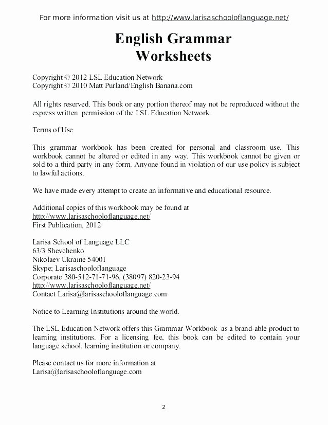 Capitalization Worksheets 4th Grade Pdf Worksheet for Class 3 Grammar Worksheets Grade 4th Pdf Esl