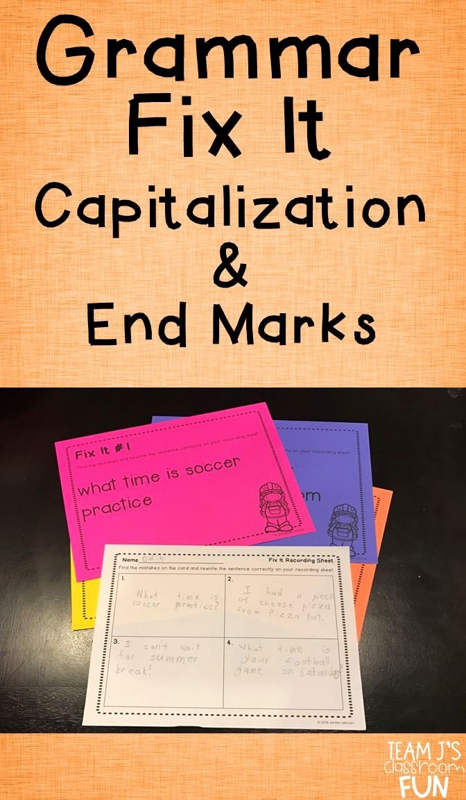 Capitalization Worksheets for 2nd Grade Capitalization and Punctuation Practice Grammar