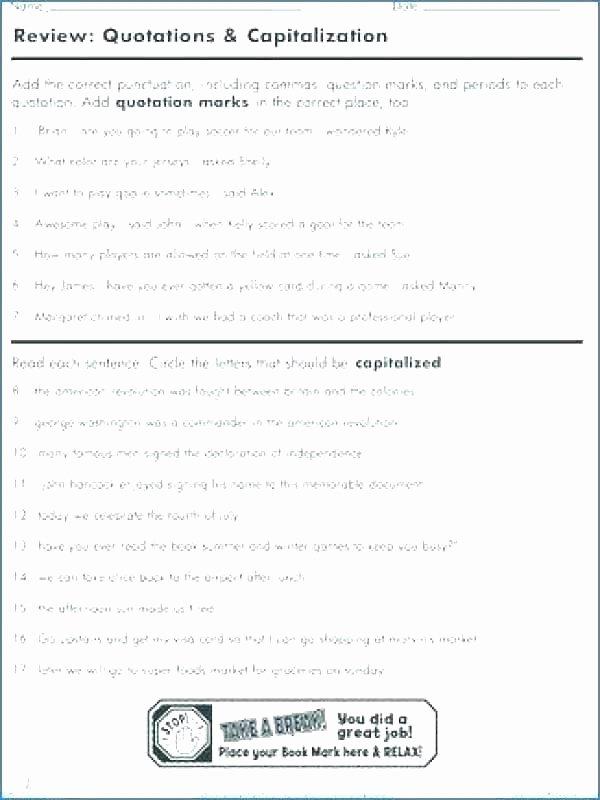 Capitalization Worksheets for 2nd Grade Capitalization Worksheets Grade Practice and End Punctuation