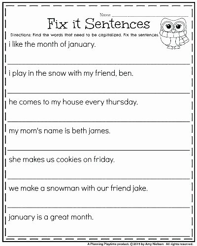 Capitalization Worksheets for 2nd Grade Free Printable State Capitals Worksheets Capitalization