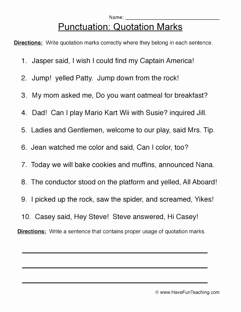 worksheets end punctuation worksheet 1 ending marks for grade 5 2nd with answers pdf punctuat