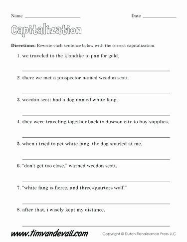 Capitalization Worksheets Grade 1 Free Printable State Capitals Worksheets Capitalization