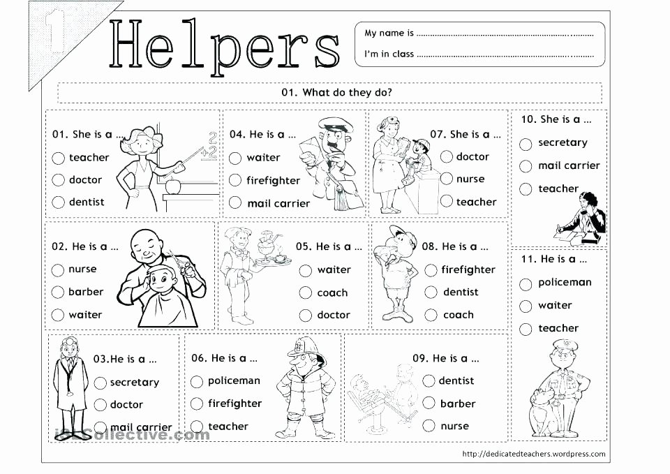 Career Worksheets for Middle School New Jobs I E Worksheet Kindergarten Career Worksheets for Kids