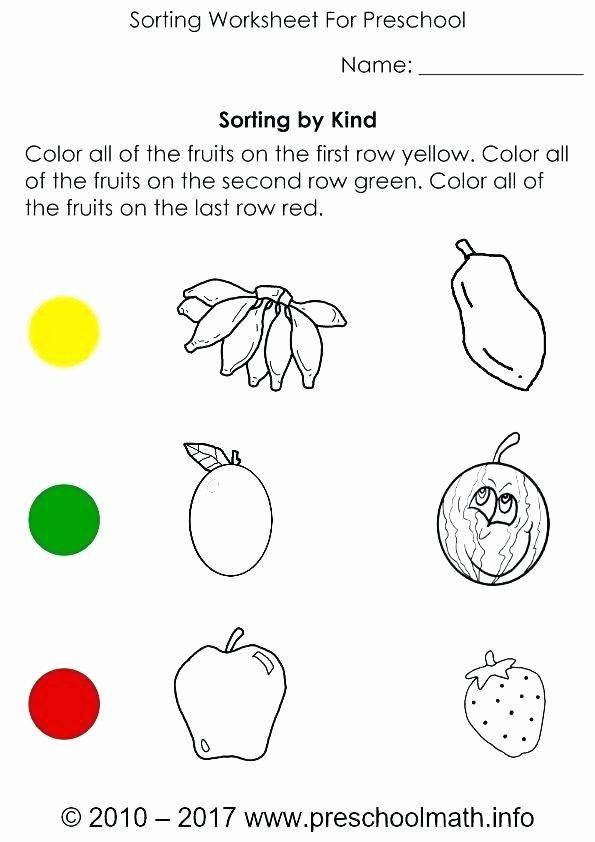 Categorizing Worksheets for Kindergarten Elegant sorting Worksheet Kindergarten Sheets Sheet Worksheets