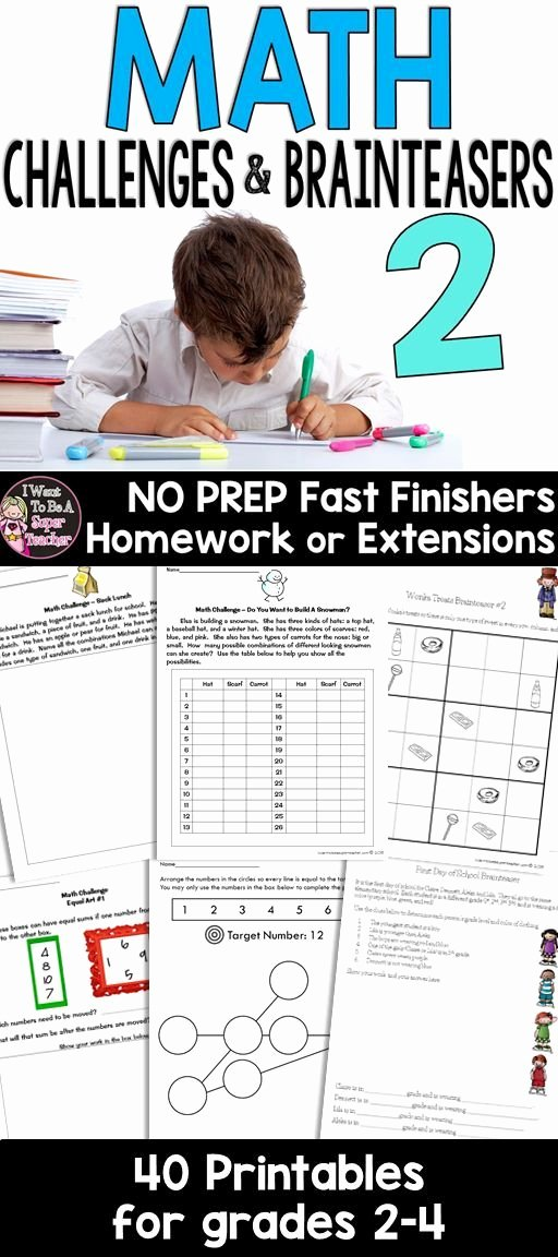 Challenge Math Worksheets Math Worksheets Math Challenges Math Enrichment