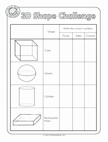 Challenge Math Worksheets Shapes Worksheets Shape Challenge Properties Grade 3 Math