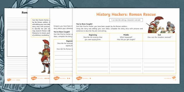 Character and Setting Worksheets Ks2 Ancient Romans Story Character Setting and Plot