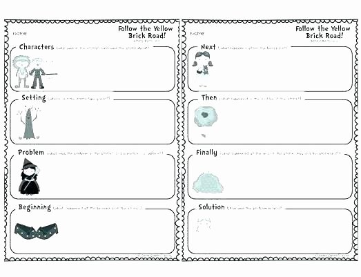 Character and Setting Worksheets Problem and solution Worksheets 5th Grade
