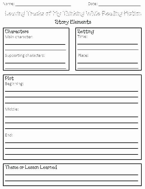 Character Setting and Plot Worksheets Plot and theme Worksheets Story Elements Worksheets Plot