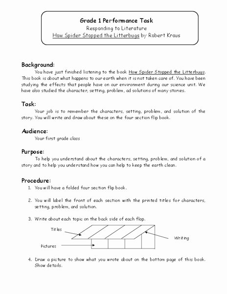 Character Setting and Plot Worksheets Responding to Literature Worksheet for Kindergarten 2nd