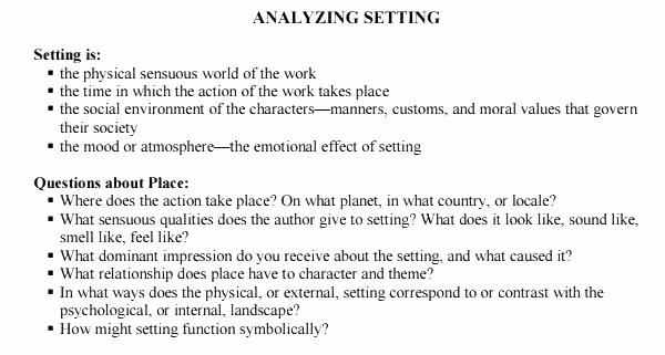 Character Setting Plot Worksheet Story Elements Worksheet Whats the Setting Character and