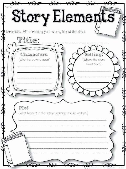 Character Setting Plot Worksheet Story Elements Worksheets Grade Plot Structure 2nd Pdf