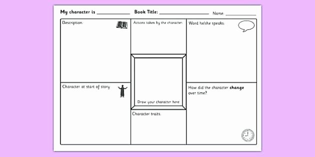 Character Setting Worksheets Character Worksheets