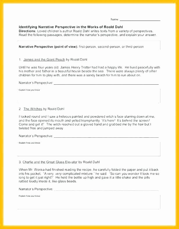 Character Traits Worksheet 2nd Grade Authors Point View Worksheets Grade 2 First Second