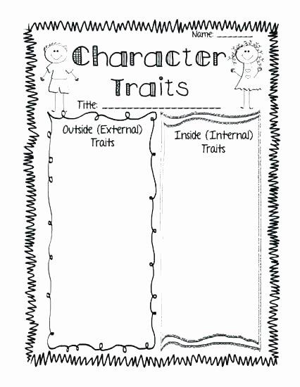 Character Traits Worksheet 2nd Grade Character Response Worksheets
