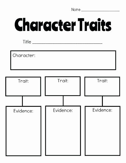 Character Traits Worksheet 2nd Grade Character Sketch Template Worksheets