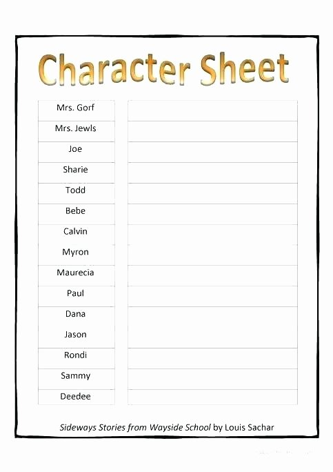 Character Traits Worksheet 2nd Grade Character Worksheets 4th Grade