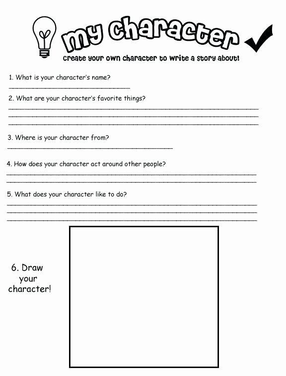 Character Traits Worksheet 2nd Grade Draw the Kitten Character Descriptions Worksheet Draw the