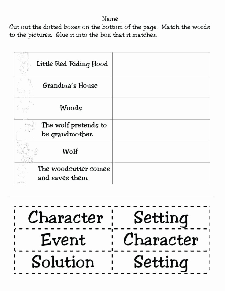 Character Traits Worksheet 2nd Grade Folktale Worksheets 2nd Grade