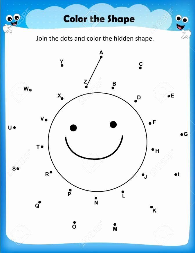 Christmas Connect the Dots Printable Worksheet Join the Dots and Color Picture for Worksheets