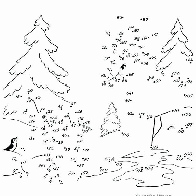 Christmas Connect the Dots Printables Dot to Dot Printables – Golfpachuca