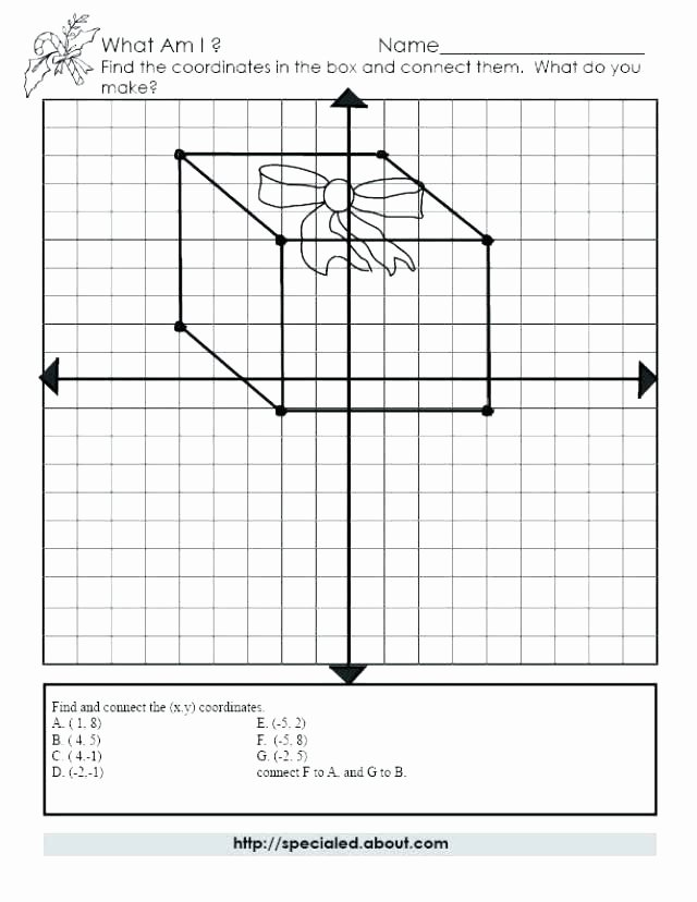 Christmas Coordinates Worksheet Mystery Picture Graph Worksheets Free Kids Coordinate Plot