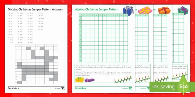 Christmas Coordinates Worksheets Elegant Christmas Jumper Pattern Shader Worksheet Worksheets