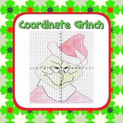 Christmas Coordinates Worksheets Elegant Grinch Coordinate Graphing Fun ordered Pairs Blank Grid