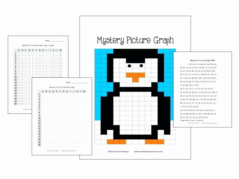 Christmas Coordinates Worksheets Luxury Graphing Free Coordinate Mystery Picture Worksheets Christmas