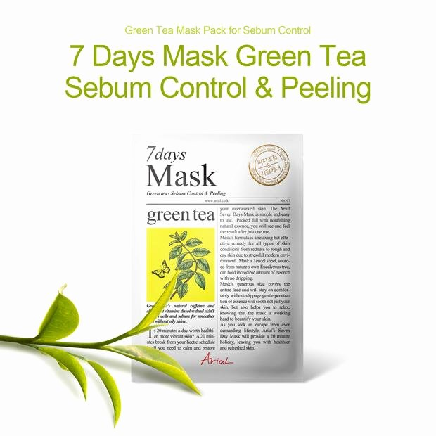 Christmas Dot to Dot Hard Beautiful 7 Days Mask Green Tea Best Selling Natural Sheet Mask for