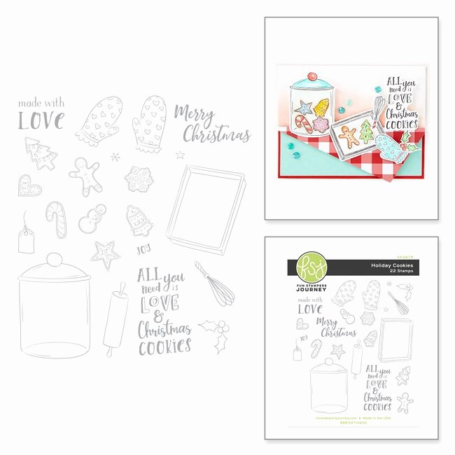 SS 0679 Holiday Cheer FSJ Cookies Stamp Set bo