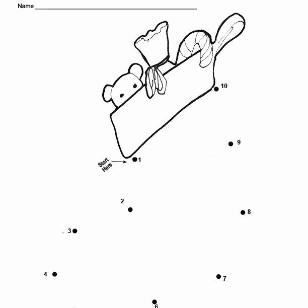 Christmas Dot to Dot Printables An Easy Free Printable Snowman Dot to Dot for Christmas
