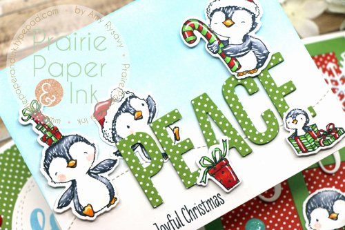 Christmas Extreme Dot to Dot Prairie Paper & Ink Mft Sweet Holiday Penguins